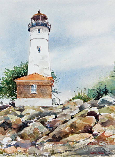 Painting - Crisp Lighthouse by Monte Toon