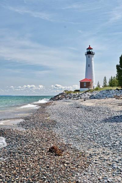 Wall Art - Photograph - Crisp Point Lighthouse by Michael Peychich