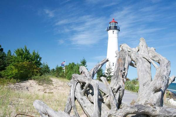 Wall Art - Photograph - Crisp Point Lighthouse On Lake Superior by Michael Peychich