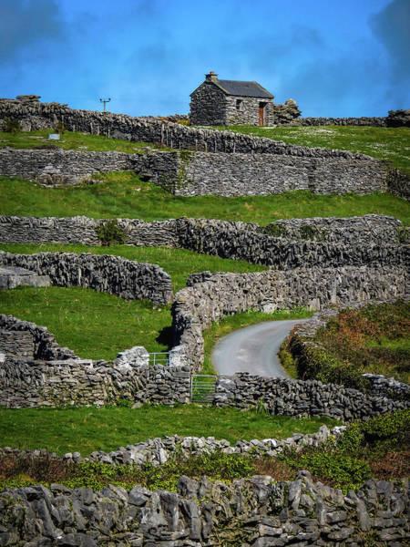 Photograph - Criss-crossed Stone Walls Of Inisheer by James Truett