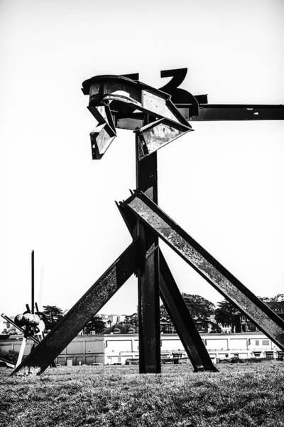 Photograph - Crissy Field Iron Scuplure by Michael Hope