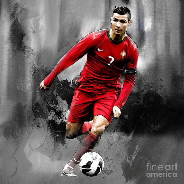 Manchester United Fc Wall Art - Painting - Cristiano Ronaldo 06s by Gull G