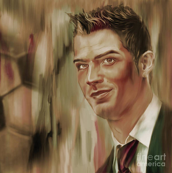 0 Painting - Cristiano Ronaldo 450i by Gull G