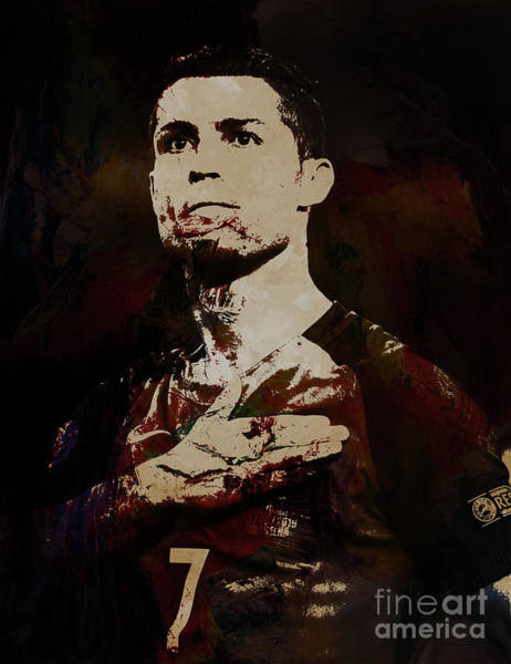 Manchester United Fc Wall Art - Painting - Cristiano Ronaldo Okia by Gull G