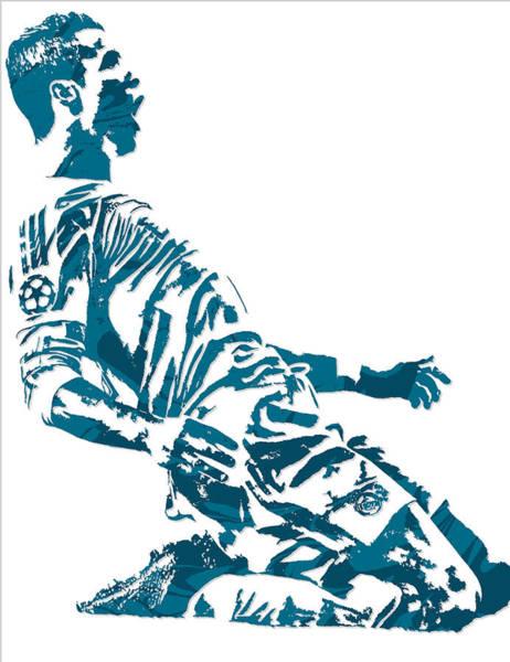 Cristiano Ronaldo Wall Art - Mixed Media - Cristiano Ronaldo Real Madrid Pixel Art 2 by Joe Hamilton