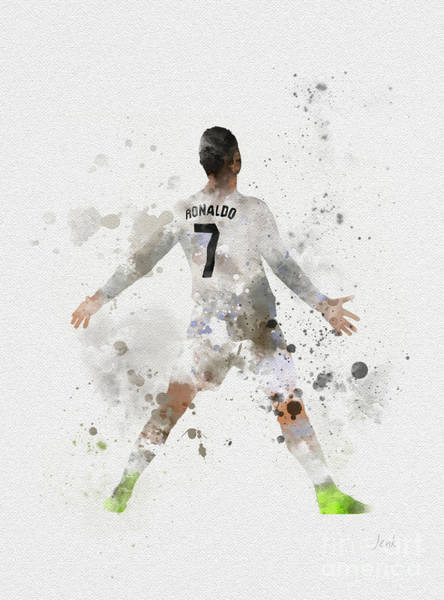 Ballons Wall Art - Mixed Media - Cristiano Ronaldo by My Inspiration