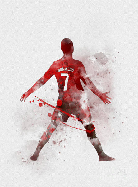 Premier League Wall Art - Mixed Media - Cristiano Ronaldo United by My Inspiration