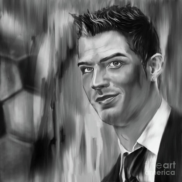 0 Painting - Cristiano Soccer Player 01 by Gull G