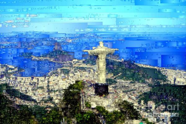 Digital Art - Cristo In Rio De Janeiro Brazil by Rafael Salazar