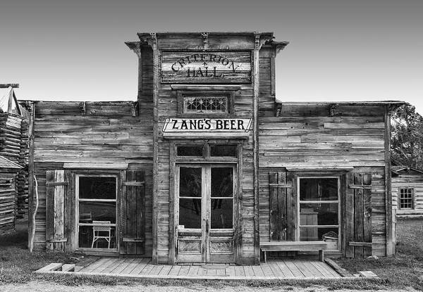 Wall Art - Photograph - Criterion Hall Saloon -- Montana Territories by Daniel Hagerman