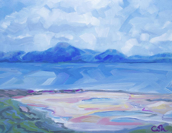 Painting - Croagh Patrick From The Greenway At Mulranny Mayo Ireland by Catherine Considine