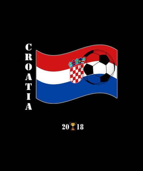 Wall Art - Digital Art - Croatia 2018 Soccer Tournament Flag Russia by Sourcing Graphic Design
