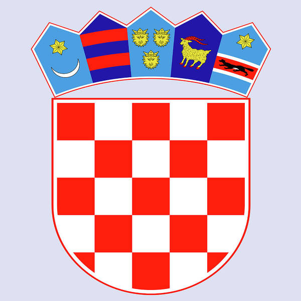 Drawing - Croatia Coat Of Arms by Movie Poster Prints