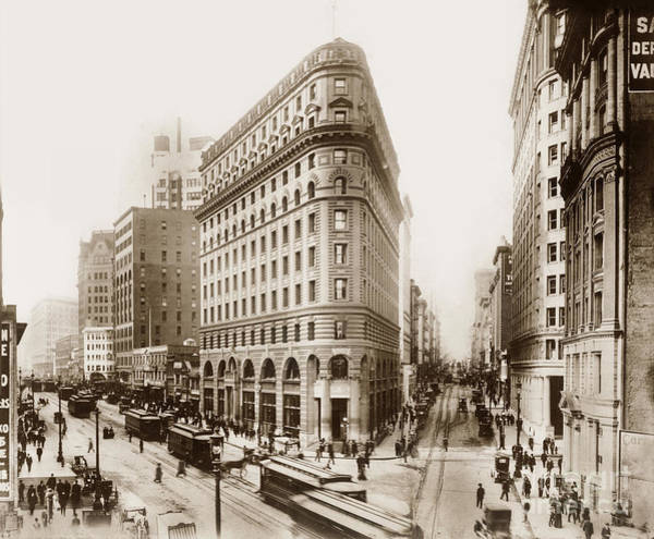 Photograph - Crocker Building At The Intersection Of Market, Post And Montgomery St's by California Views Archives Mr Pat Hathaway Archives