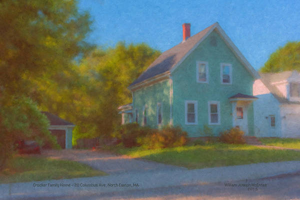 Painting - Crocker Family Home by Bill McEntee