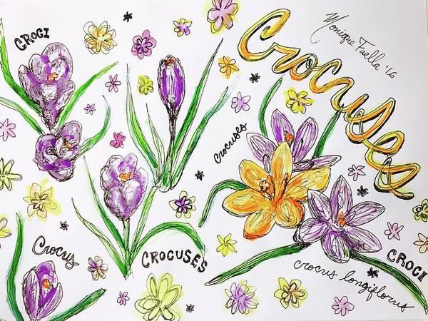 Crocuses Art Print