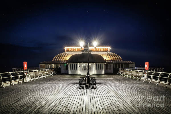 Norfolk Photograph - Cromer Pier Pavilion At Night  by Simon Bratt Photography LRPS