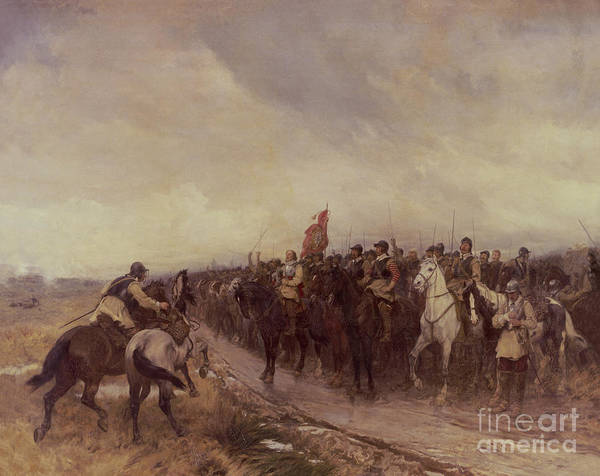 Dgt Wall Art - Painting - Cromwell At Dunbar by Andrew Carrick Gow
