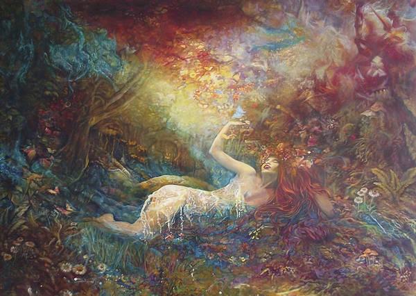 Rhea Painting - Cronos And Rhea Nymph by Safir  Rifas