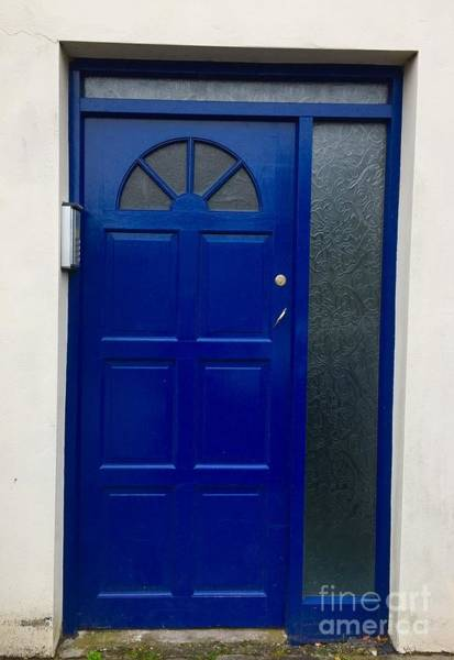 Photograph - Crooked Blue Door In  Ireland  by Suzanne Lorenz