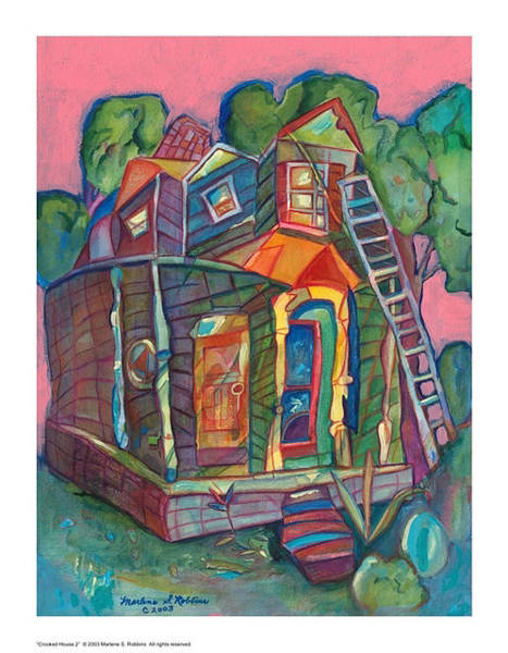 Painting - Crooked House 2 by Marlene Robbins
