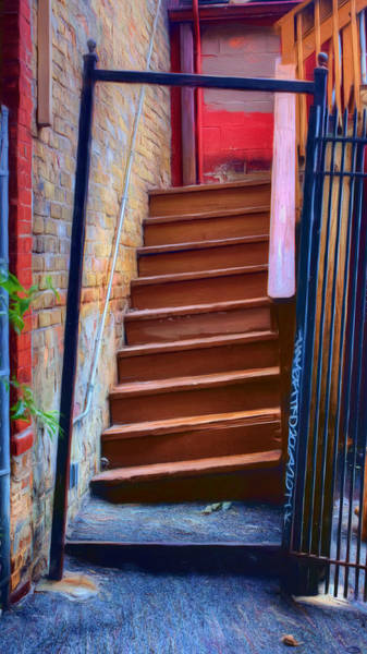 Wall Art - Photograph - Crooked Stairs - Wicker Park by Nikolyn McDonald