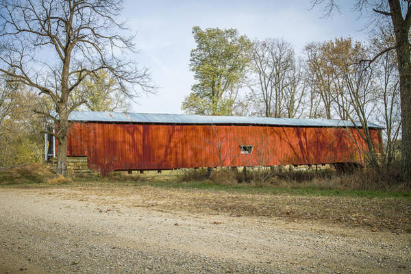 Photograph - Crooks Covered Bridge by Jack R Perry