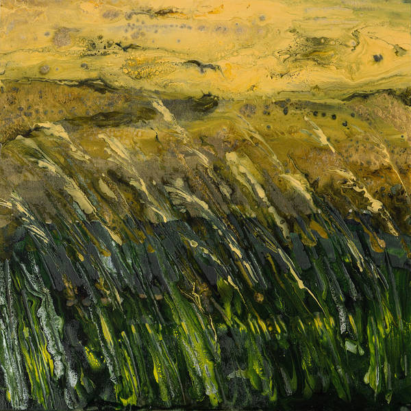 Wall Art - Painting - Crop Field Semi-abstract by Alexandra Kiczuk