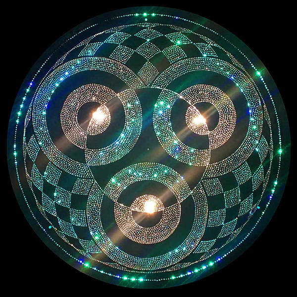 Digital Art - Cropcircle Lightmandala by Robert Thalmeier