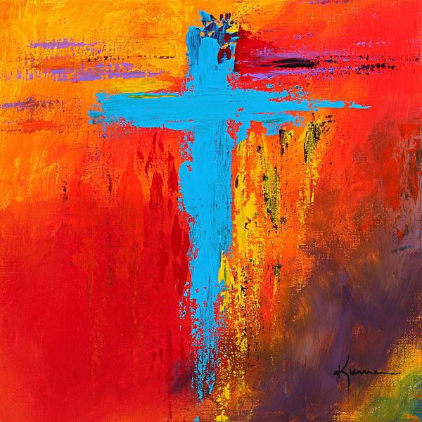 Wall Art - Painting - Cross No.3 by Kume Bryant
