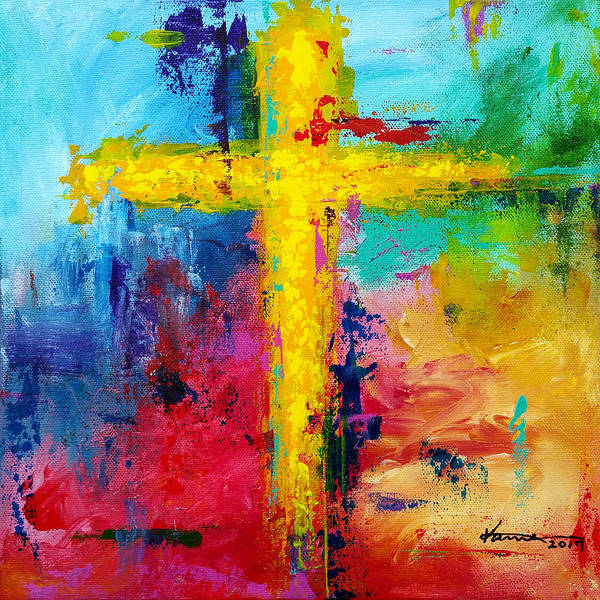 Wall Art - Painting - Cross No.7 by Kume Bryant