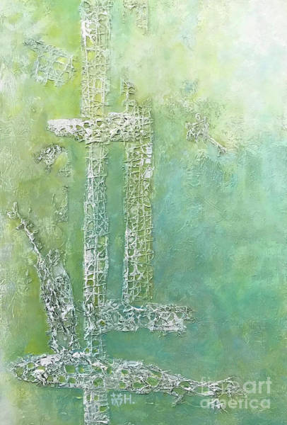 Sacrifice Mixed Media - Cross And Fish  by Wonju Hulse