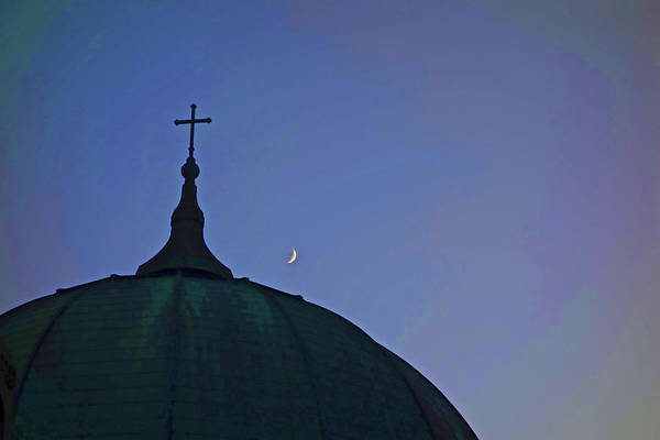 Photograph - Cross And Moon by Joan Reese