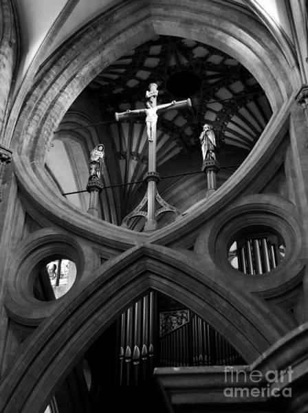 Photograph - Wells Cathedral Engalnd Interior by Lexa Harpell