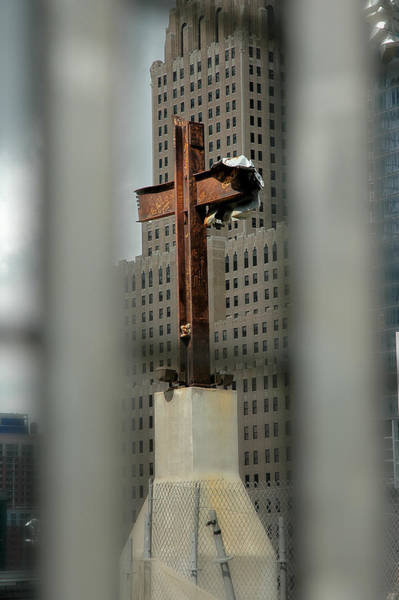 Wall Art - Photograph - Cross At Ground Zero by Frank Mari