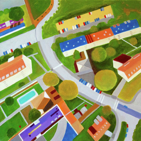 Developed Painting - Cross Country Roads by Toni Silber-Delerive