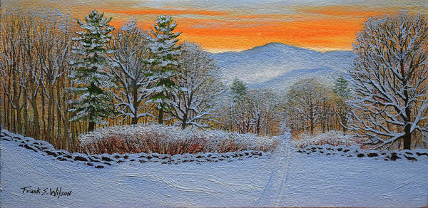 Wall Art - Painting - Cross Country Ski Trail by Frank Wilson