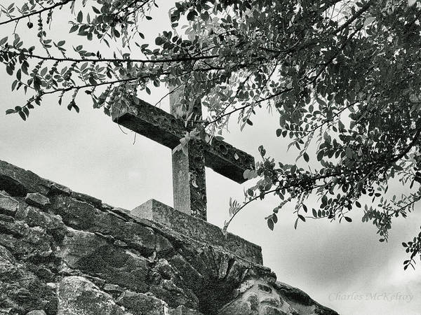 Photograph - Cross In The Trees by Charles McKelroy