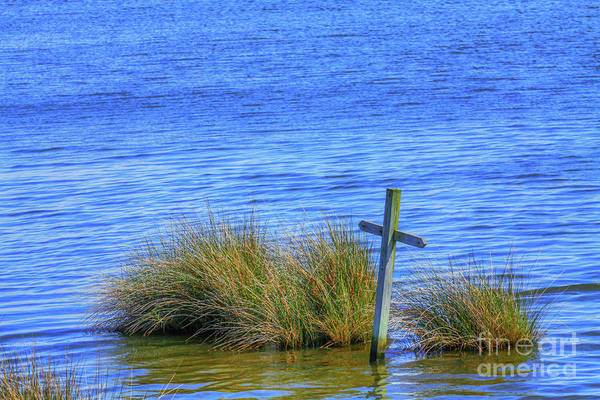 Earthtones Photograph - Cross In The Water  by Randy Steele