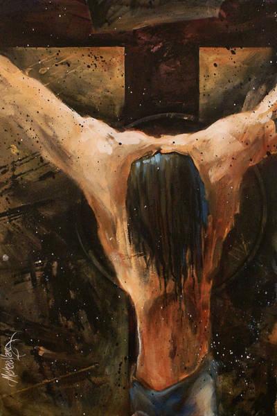 Wall Art - Painting - Cross by Michael Lang