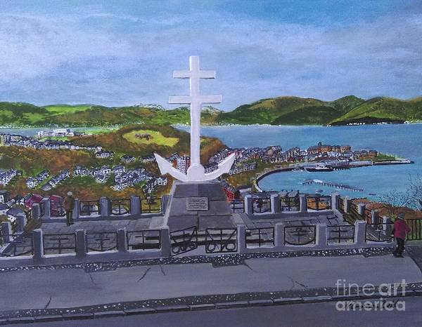 Lyle Painting - Cross Of Lorraine by Neal Crossan