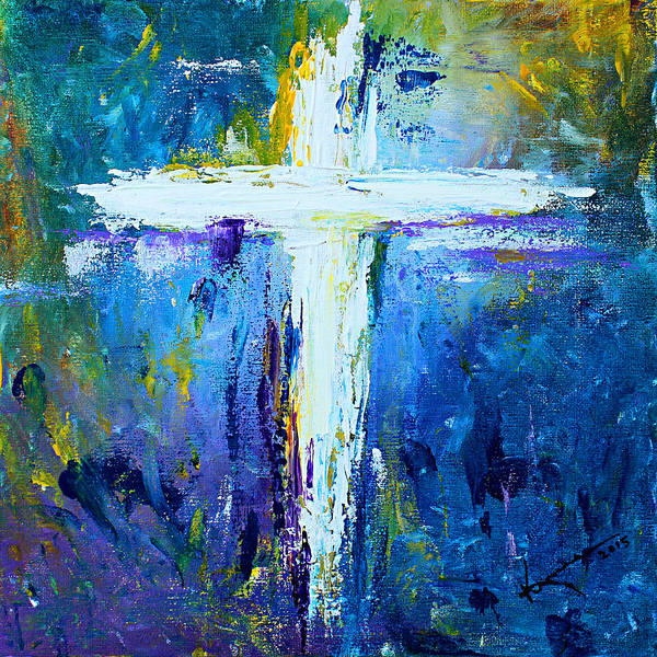 Finger Paint Painting - Cross No.4 by Kume Bryant