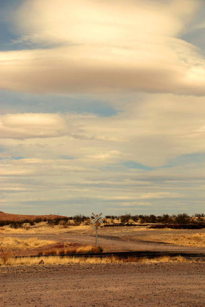Photograph - Cross Road In New Mexico by Susanne Van Hulst