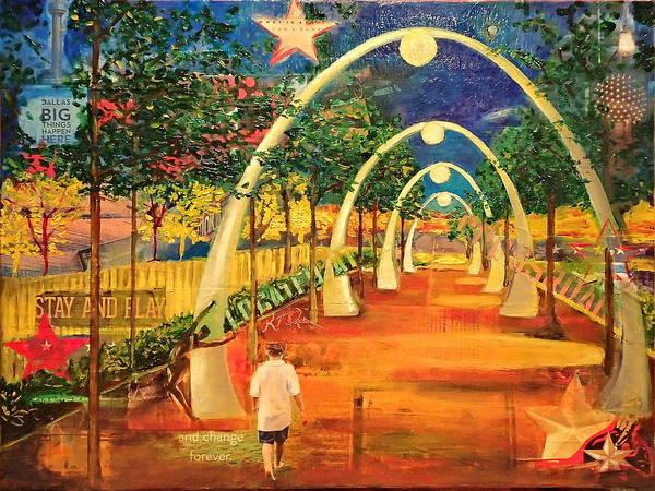 Lone Star Painting - Cross Roads Klyde Warren Park by Katrina Rasmussen