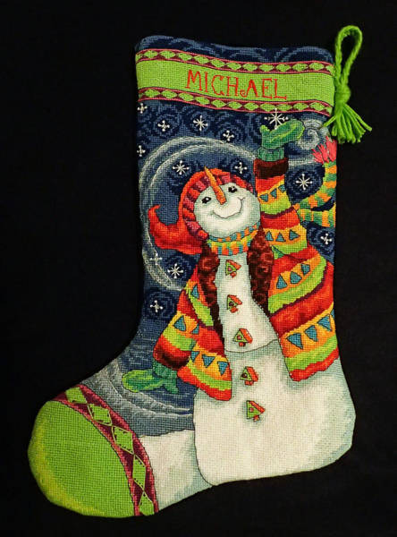 Photograph - Cross-stitch Stocking by Farol Tomson