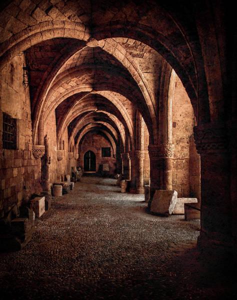 Photograph - Rhodes, Greece - Cross Vault II by Mark Forte