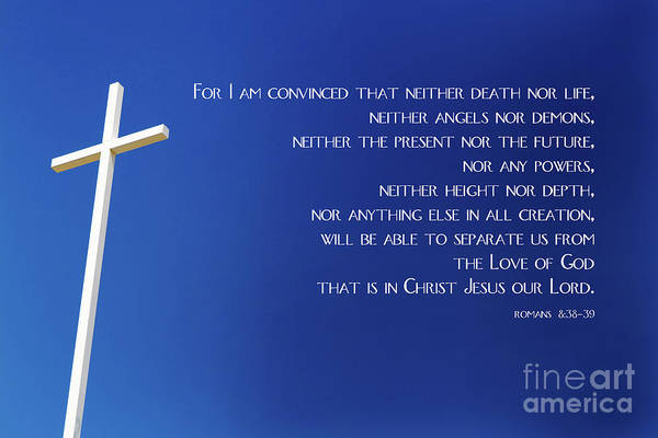 Cross With Blue Sky Art Print