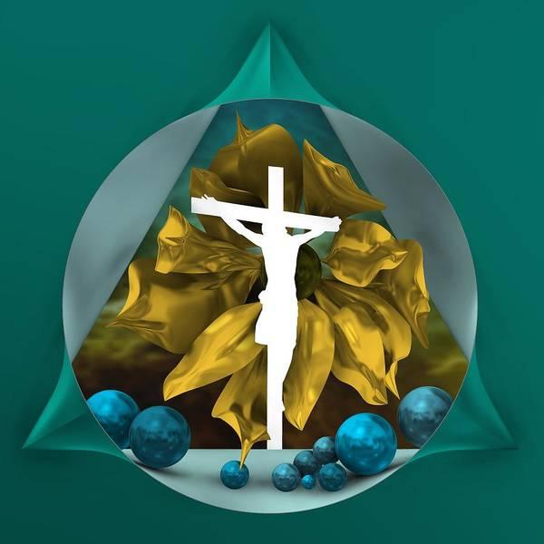 Digital Art - Crossed Jesus by Alberto RuiZ
