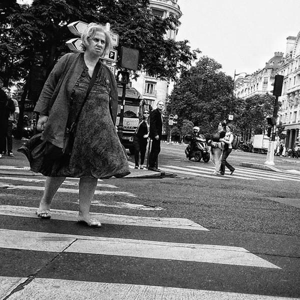 Wall Art - Photograph - Crosser  #lady #woman #street #city by Rafa Rivas