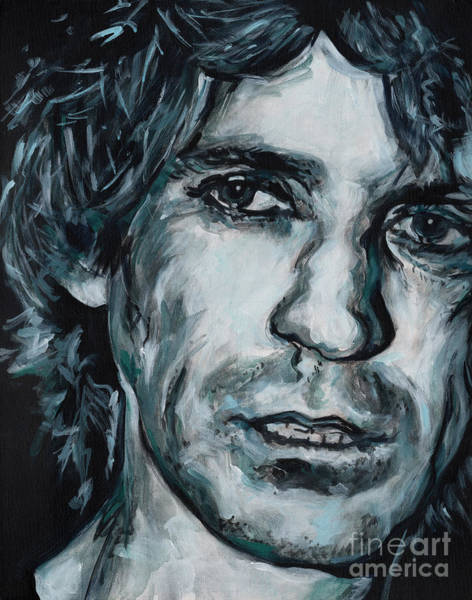 Painting - Hickory Wind. Keith Richards by Tanya Filichkin
